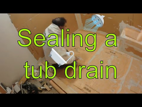 Seal and waterproof a bathtub drain in shower floor