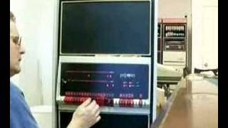 PDP-11/40 minicomputer running a program