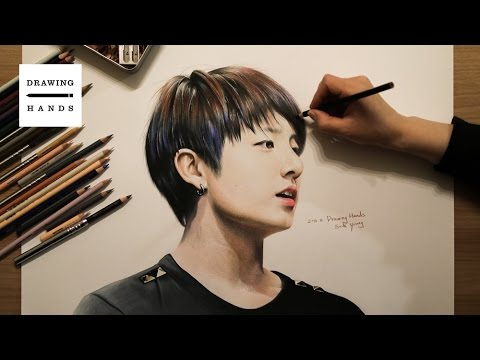 Speed Drawing Bts Jung Kook Drawing Hands Youtube