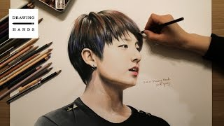 방탄소년단 - 정국 그림 그리기 (Speed Drawing BTS Jung Kook) [Drawing Hands]