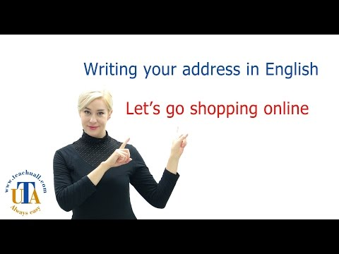 How to write address in English to go shopping online