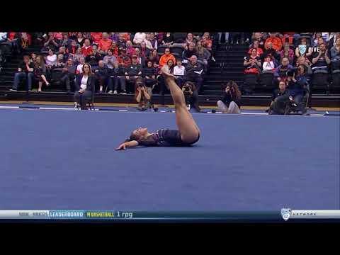 Kaitlyn Yanish (Oregon State) 2018 Floor vs Stanford 9.95 ...