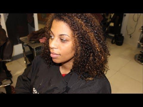 Salon Work Full Head Of Highlights On Natural Hair Youtube