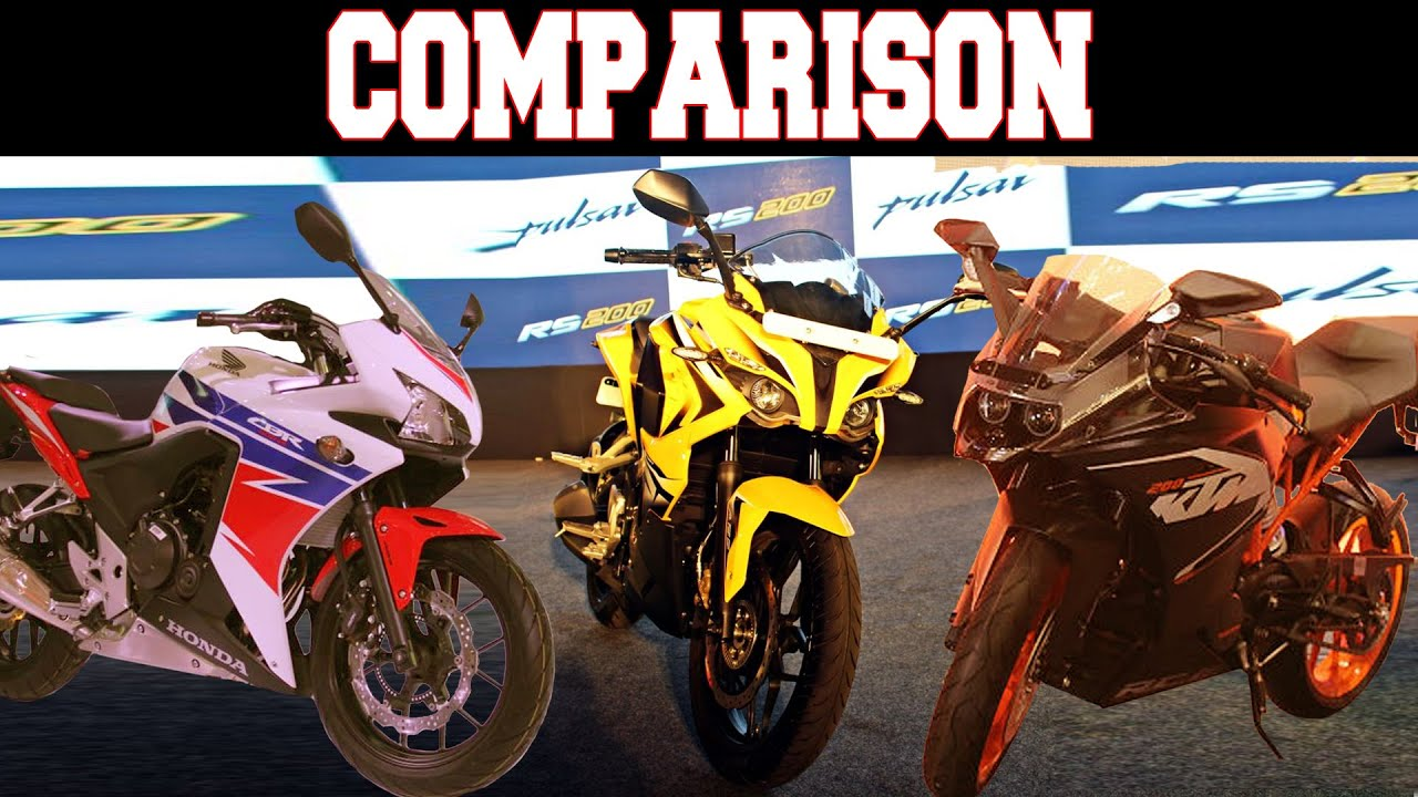 Bajaj pulsar rs200 vs ktm rc200 vs honda cbr250r comparison youtube - Bajaj Pulsar Rs200 Vs Ktm Rc200 Vs Honda Cbr250r Spec Comparison Youtube
