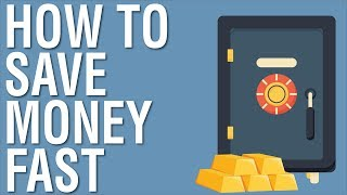 HOW TO SAVE MONEY FAST -  5 TIPS FOR SAVING MONEY