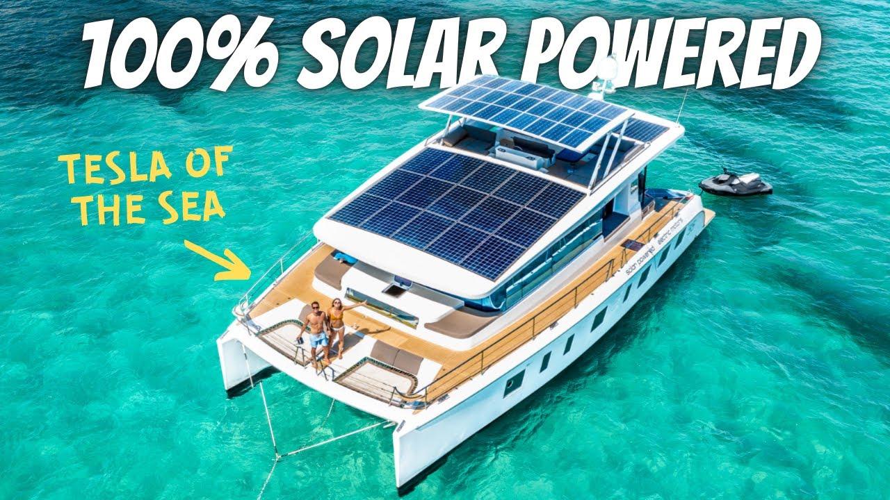 LIVING ON A 100% SOLAR POWERED YACHT (full tour)