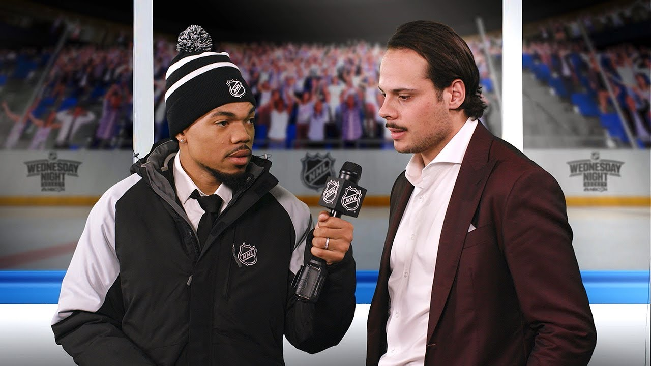 Lazlo Holmes interviews Maple Leafs forward Auston Matthews