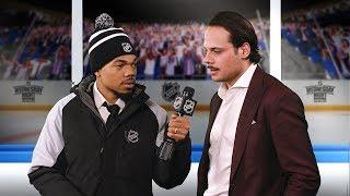 Lazlo Holmes interviews Maple Leafs forward Auston Matthews