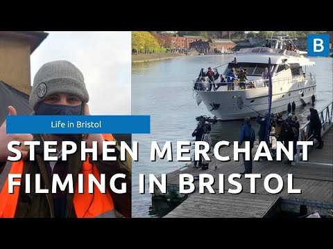 Stephen Merchant spotted filming for the Offenders in Bristol