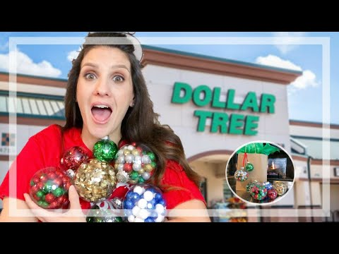 DOLLAR STORE DIY | HOW TO USE THE CRAFT CHRISTMAS ORNAMENTS!
