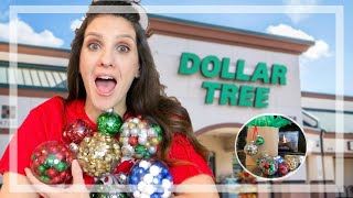 DOLLAR STORE DIY   HOW TO USE THE CRAFT CHRISTMAS ORNAMENTS!