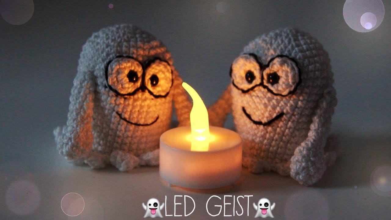 Schnell Einfach Led Geister Häkeln Halloween Dekoraion Youtube