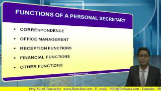 fyjc secretarial practice types of secretary 1