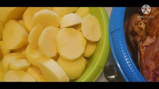 OVEN BAKE CHICKEN AΝD POTATOES RECIPE  SO EASY AND JUICY