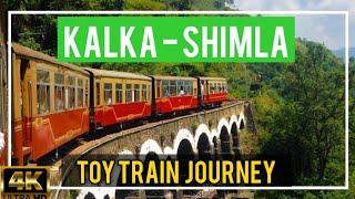 KALKA SHIMLA Toy Train VIDEO (4K) | Ticket price, Timing,  Distance? | Kalka Shimla Railway