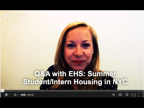 Q&A: Summer Student/Intern Housing in NYC