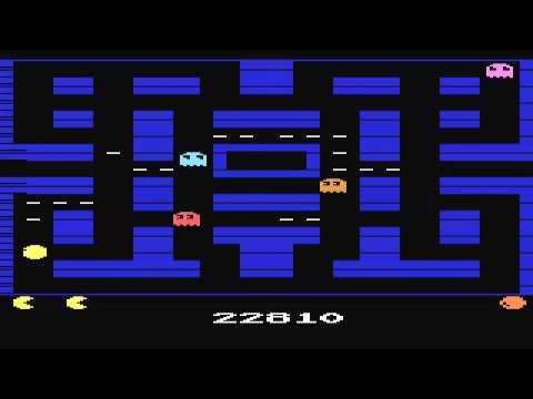 ATARI 2600 Pac Man Arcade Enhanced Hack 2010 NTSC