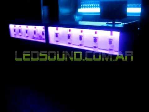 Ledsound 43 barra con iluminacion led rainbow en liquid - Iluminacion con led ...
