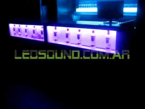 Ledsound 43 Barra Con Iluminacion Led Rainbow En Liquid