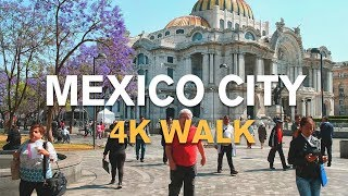 MEXICO CITY 4K |  HISTORIC CENTER WALK - 2019 TRAVEL VLOG (Subtitulos)