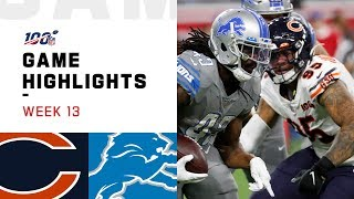 Bears vs. Lions Week 13 Highlights | NFL 2019