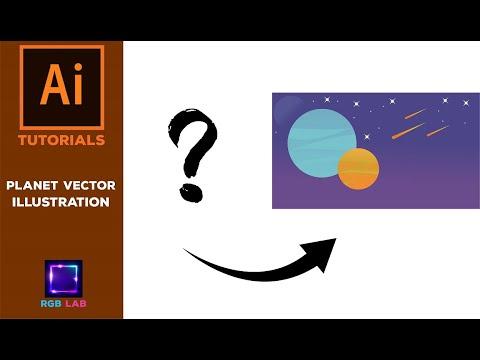 Planet Vector Illustration – Adobe Illustrator Tutorial thumbnail
