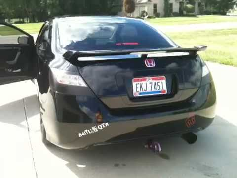 Blacked out Honda Civic Si - YouTube