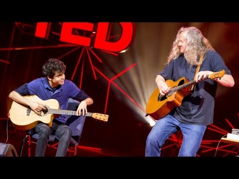 A young guitarist meets his hero | Usman Riaz and Preston Reed