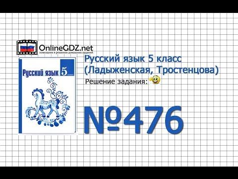 Задание № 476 — Русский язык 5 класс (Ладыженская, Тростенцова)