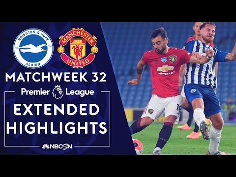 Brighton v. Manchester United | PREMIER LEAGUE HIGHLIGHTS | 6/30/2020 | NBC Sports