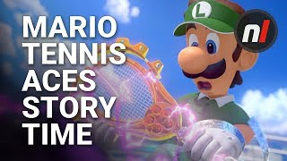Mario Tennis Aces Story Time - Story Mode Introduction
