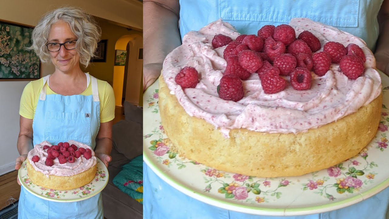 Lemon Cake W/ Raspberry-Cream Cheese Frosting   Curb Your Sweet Tooth   Everyday Food W/ Sarah Carey