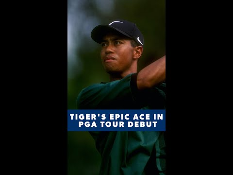 20-year-old Tiger Woods makes ace in pro debut