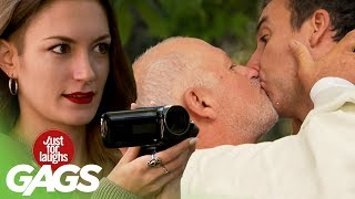 Priest Teaches Husband How To Kiss The Bride