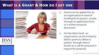 Grant Writing Skills  Online Course   plus free directory of grant making trusts