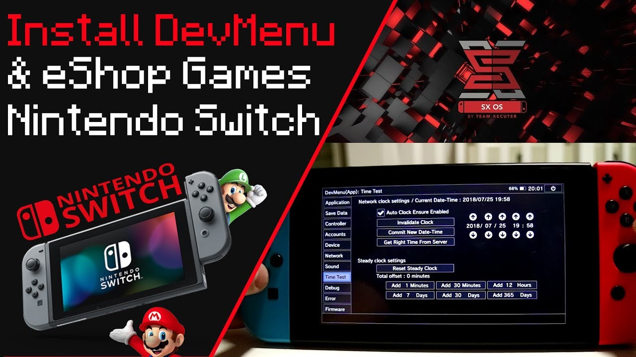 Install DevMenu And eShop Games On Nintendo Switch