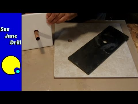 How to Drill a Hole in Porcelain, Ceramic, Stone Tile EASY!!!