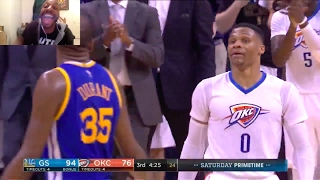 WESTBROOK & ROBERSON TALK TRASH & TRY TO FIGHT DURANT! CURRY MAKES A MILLION 3s! KD WINS AGAIN LMAO!