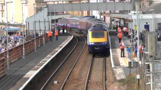 First Great Western - Class 43 HST Arrives and Departs Dawlish