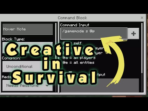 How To Get CREATIVE In SURVIVAL - Minecraft Bedrock Edition - Command