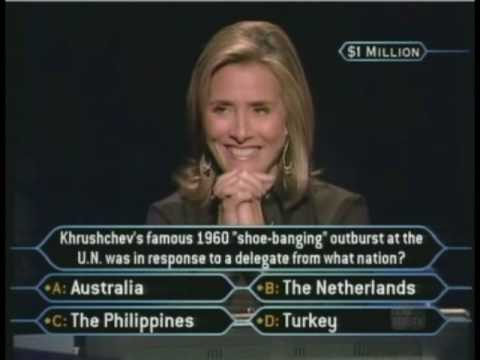 Lyn Payne's Million Dollar Question - Who Wants To Be A Millionaire [Classic Format]