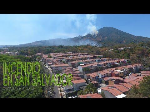 Incendio en el Volcan de San Salvador TOMAS AEREAS EN DRONE El Salvador C.A.