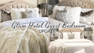Glam Hotel Guest Bedroom Tour Update 2018 | Luxury On A Budget Ideas