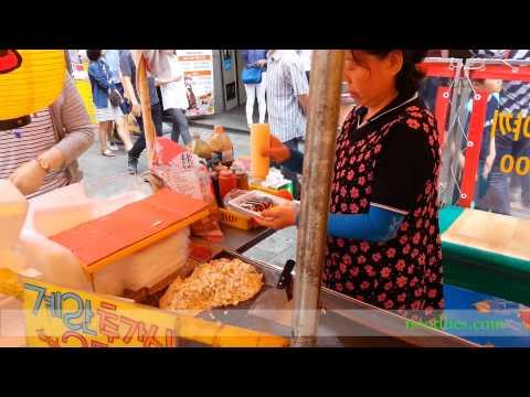 Vegetable patties at Gukje Market, Busan, South Korea