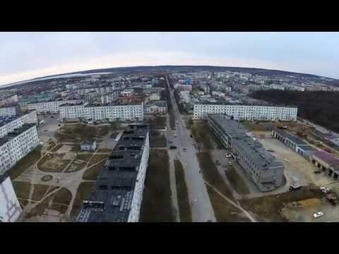 Оха с высоты птичьего полета. Улица Ленина.