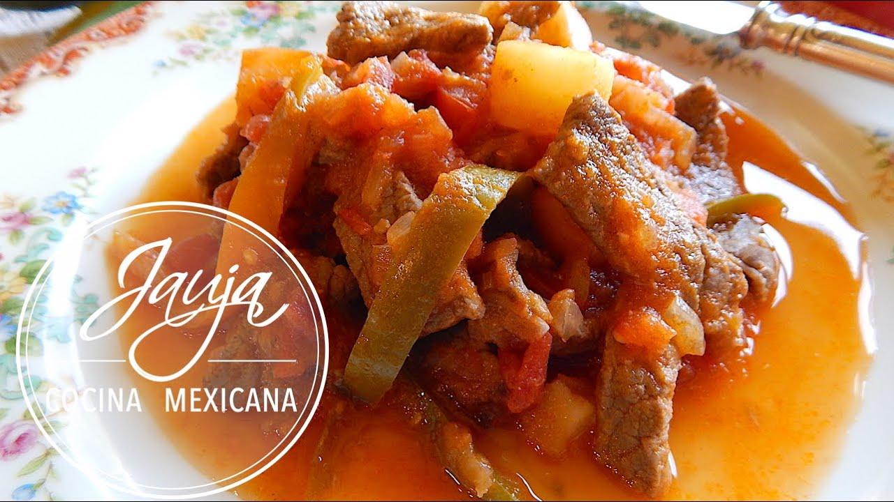 Bistec a la Mexicana con Papas  ViYoutube