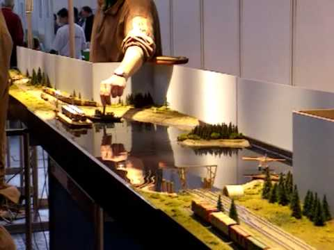 Canadian N scale model layout seen at Munich Model Railway Show December 2005