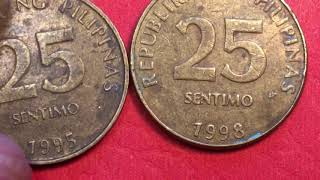 Secrets of the 1995 Pilipinas 25 Sentimo Coin - Philippines No BSP Mint Mark - No S - Small Date
