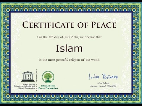 UNESCO Declares Islam to be Most Peaceful Religion
