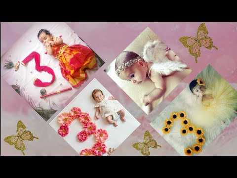 3 Month Baby Photoshoot Ideas At Home Monthly Baby Photoshoot Idea Newborn Baby Photoshoot Ideas Youtube
